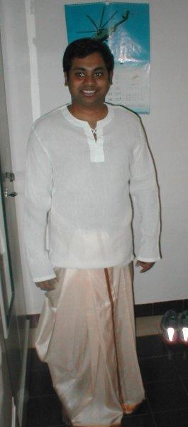 Gaurang in a Dhoti