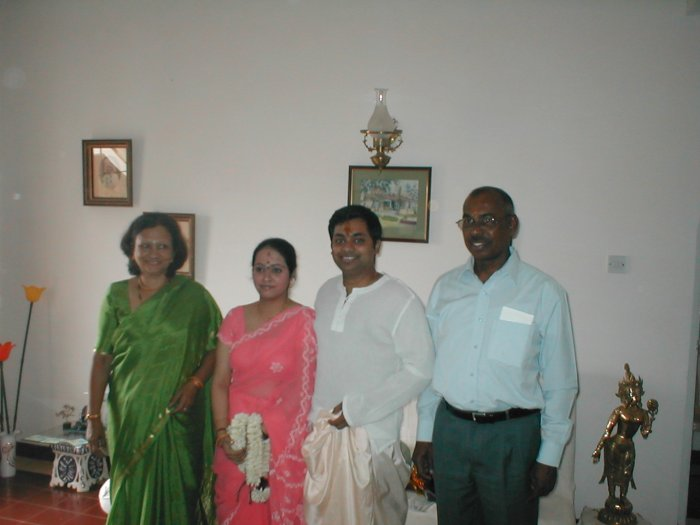 Gaurang, Kangan, Uncle and Aunty
