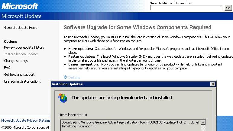 Vague Windows message