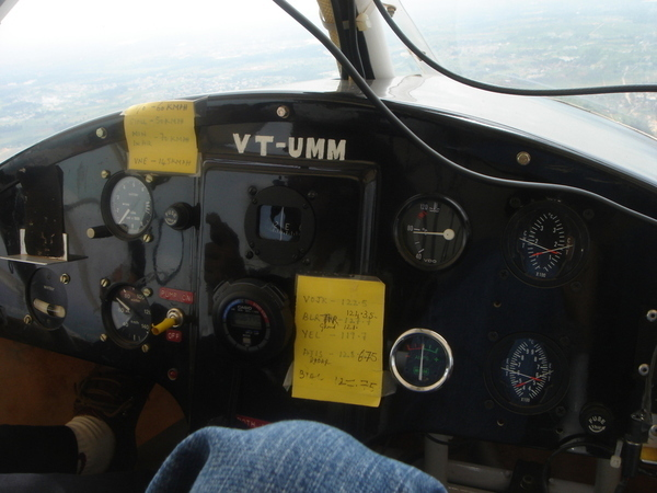 Control Panel of the Microlight