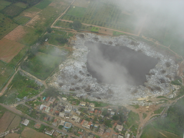 View of a Quarry from the air