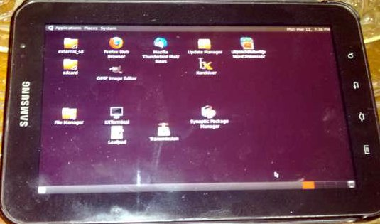 Ubuntu on Samsung Galaxy Tab