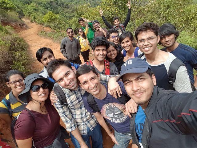 Selfie on the way to the peak